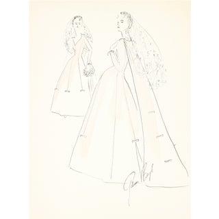 1950s Wedding Dress Original Illustration