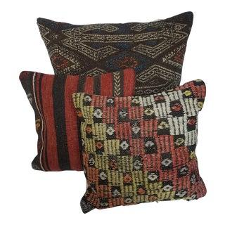 Turkish Kilim Pillows - Set of 3