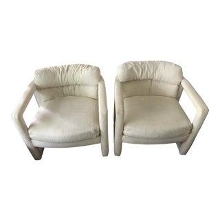 Drexel Milo Baughman Style Parsons Chairs - A Pair