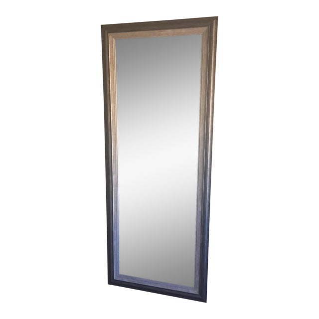 Contemporary gray floor mirror chairish for Gray full length mirror