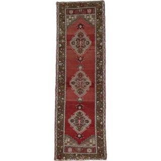 "Vintage Turkish Oushak Hand-Knotted Rug - 2'9"" x 8'8"""
