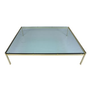Mid-Century Style Brass Coffee Table