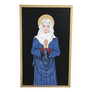 Contemporary Virgin Mary Painting