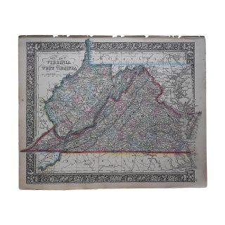 Antique Map of Virginia & West Virginia