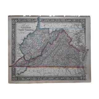 Antique Map of Virginia & West Virginia