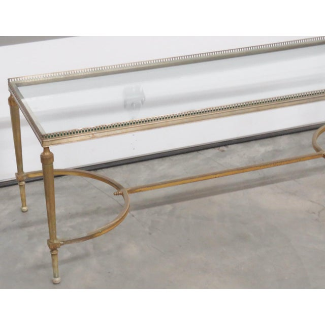 Jansen Directoire Style Glasstop Coffee Table - Image 2 of 6
