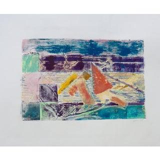 Geometry Mono Print Painting