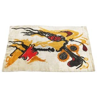 French Abstract Rug by Joan Miro
