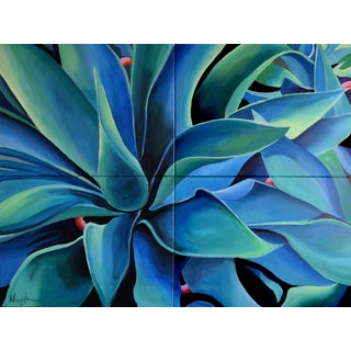 Silver Blue Agave Painting