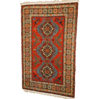 "Antique Tribal Rug, Kazak ""Kuba"" Style - 4′7″ × 7′"