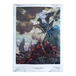 Vintage Battle Before the Gate - Lord of the Rings Poster 1970's