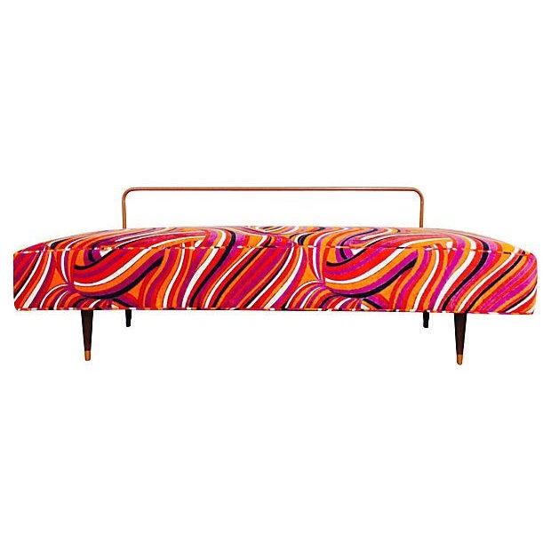 Vintage Mod Upholstered Daybed - Image 3 of 7