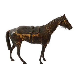 19th-C. French Bronze Box Horse