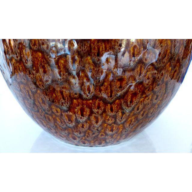Mid-Century Modern Glazed Ceramic Table Lamp - Image 2 of 5