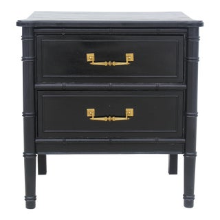 Henry Link Style Faux Bamboo Nightstand
