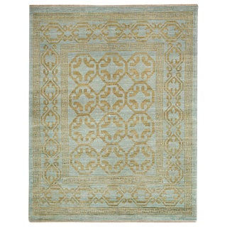 """New Light Blue Hand-Knotted Rug - 5'3"""" x 6'8"""""""