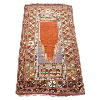 Antique Anatolian Prayer Rug - 3′2″ × 6′1″