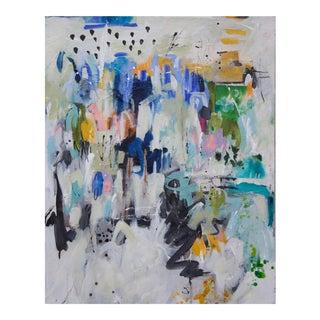 "Gina Cochran ""Left of Center"" Mixed Media Painting"
