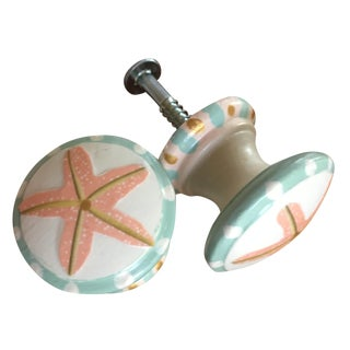 Star Fish Furniture or Cabinet Knobs - Pair