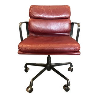 Eames for Herman Miller Soft Pad Chairs in Red Leather