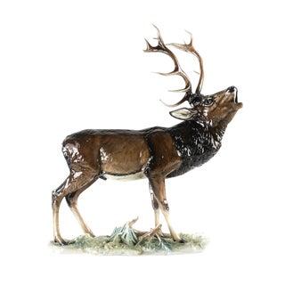 Rosenthal Porcelain Howling Elk Sculpture