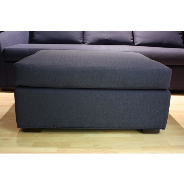 Image of McGuire Copa Navy Blue Ottoman