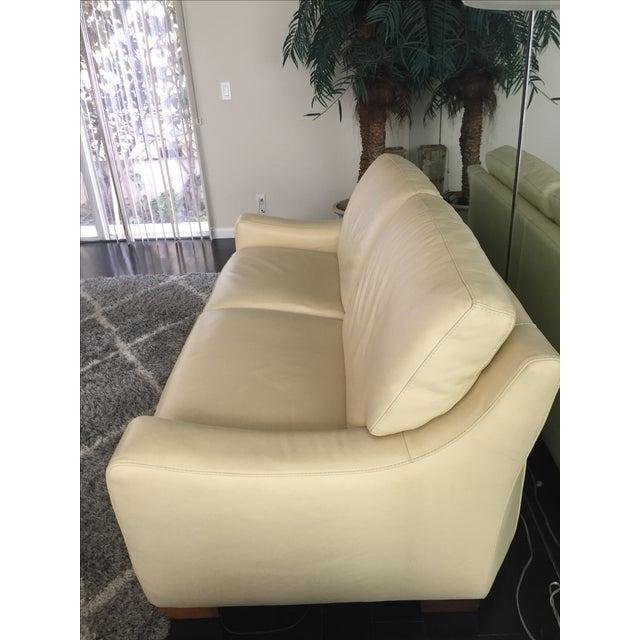 Roche Bobois Leather Sofa Sleeper - Image 5 of 9
