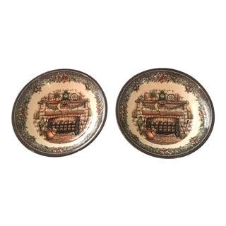 Vintage Holiday Royal Staffordshire Bowls - A Pair