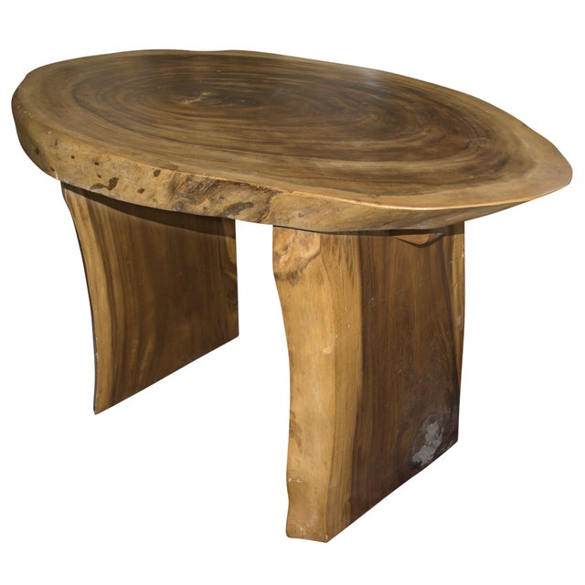 Oval Suar Wood Dining Table - Image 1 of 3