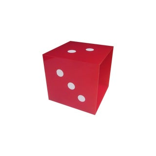 Giant Pop Art Red Dice Panton Era Display Cube