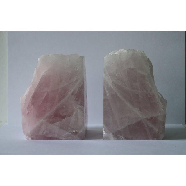 Image of Rose Quartz Bookends - A Pair