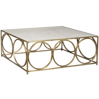 Marble & Brass Circles Coffee Table