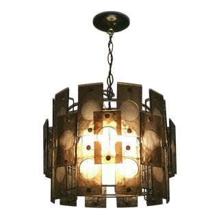 1960's Smoked Lucite Chandelier