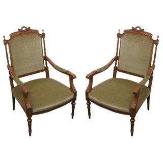 Louis XVI Armchairs - A Pair