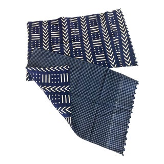 New African Indigo Pillowcases - a Pair