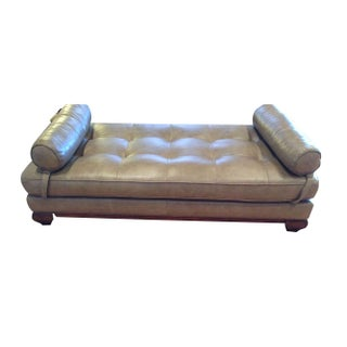 Grey Leather Daybed