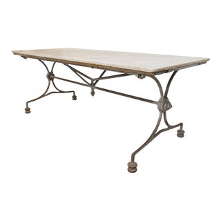 19th Century French Iron and Marble Console
