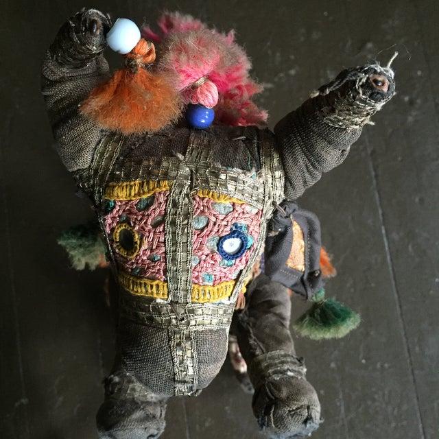 Antique Indian Boho Chic Yak Doll - Image 6 of 9