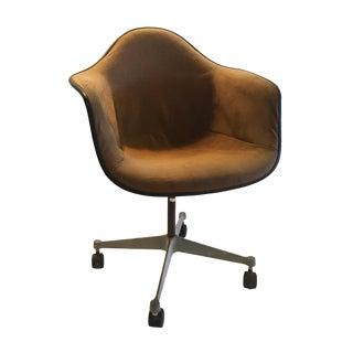 Herman Miller Brown Shell Chair on Wheels