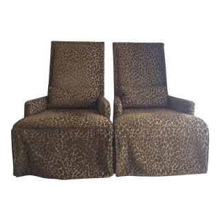 Lee Industries Webbed Back Chairs - Pair