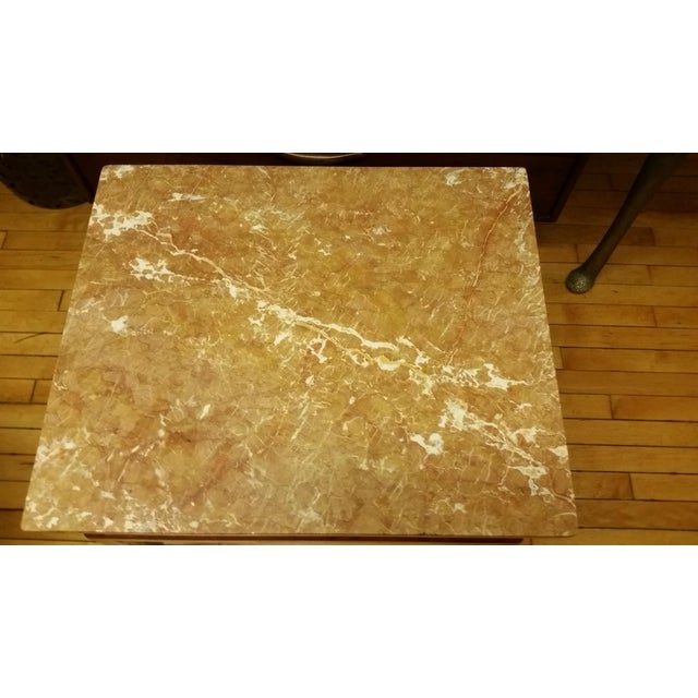 Image of Mid Century Italian Floating Marble Top Table