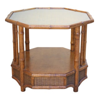 Faux Bamboo Octagonal Coffee Table