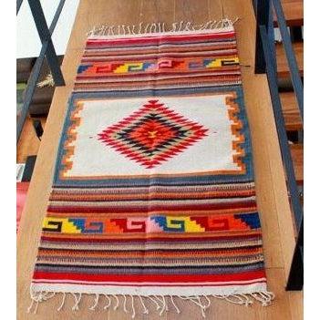 Traditional Sarape Wool Rug - Image 2 of 6