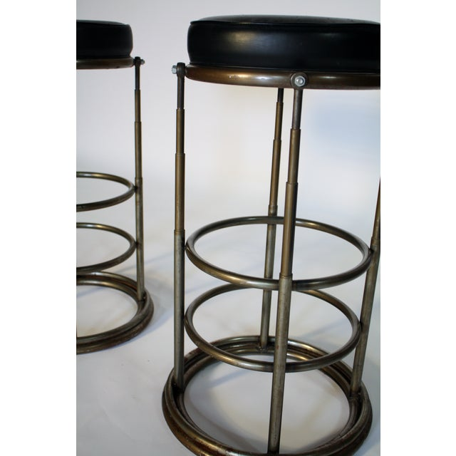 Machine Age Industrial Bar Stools - A Pair - Image 5 of 6