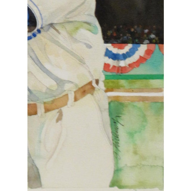 "Jerry Pinkney ""Jackie Robinson"" Watercolor Painting - Image 2 of 3"