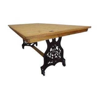 Swedish Antique Iron Base Dining Table