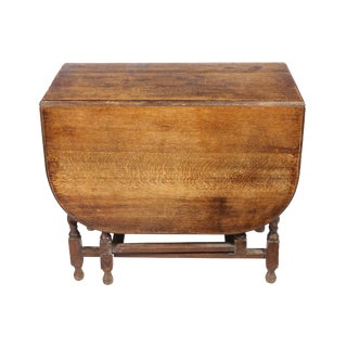 Antique English Oak Gateleg Table