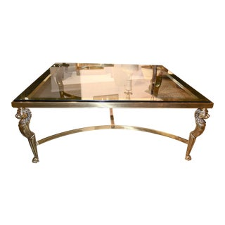 Karges Hollywood Regency Brass Coffee Table