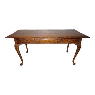Solid Oak Queen Anne Writing Desk