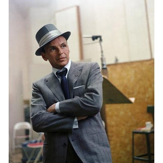 Sid Avery Frank Sinatra Capitol Records Recording Session 1954 Photo Print